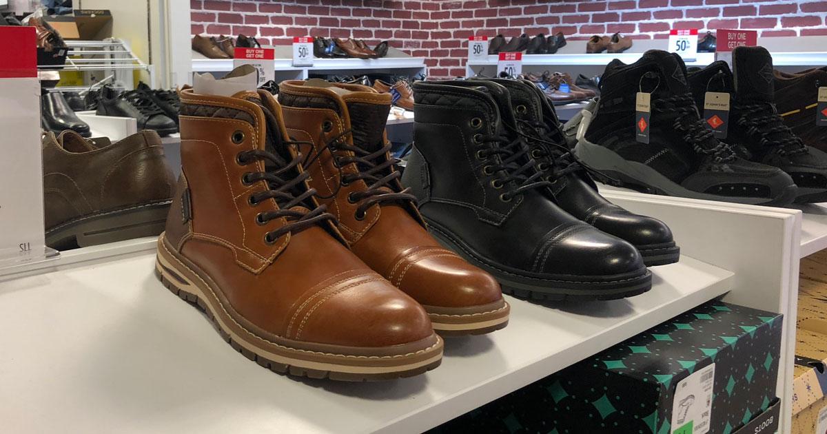 sonoma men's boots kohl's on shelf
