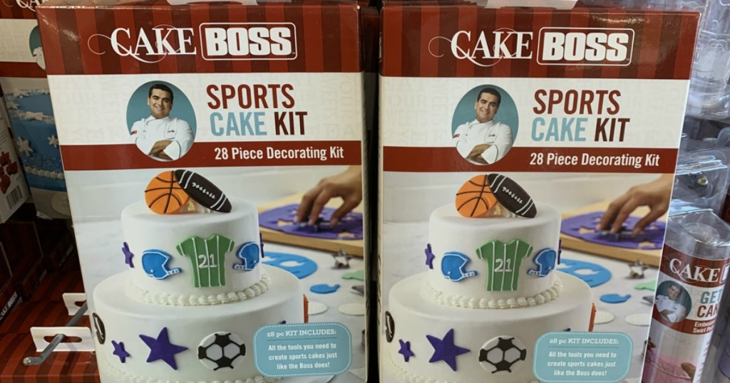 decorating kits in boxes on store display