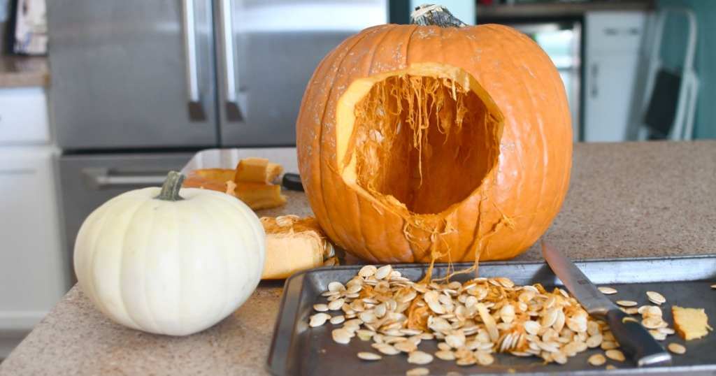 carving a hole in the back of pumpkin