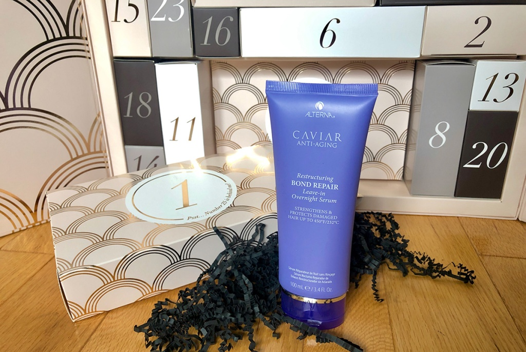 Glossy Box 2019 Advent Calendar first day product, leave-in hair treatment