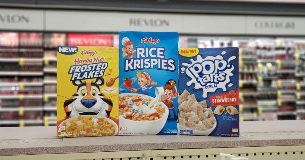 Kellogg's cereals at Walgreens