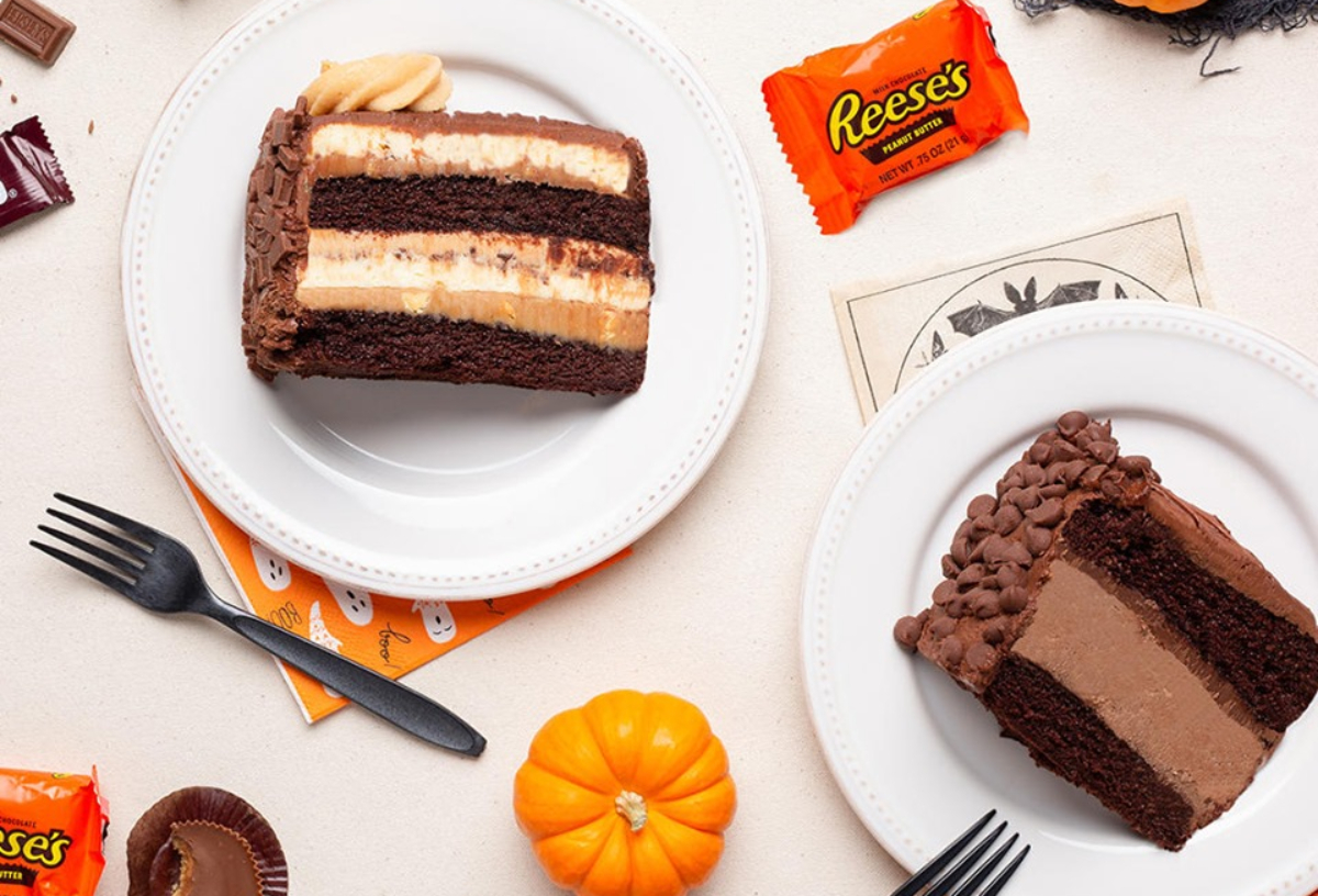 The Cheesecake Factory cheesecake slices and halloween candy