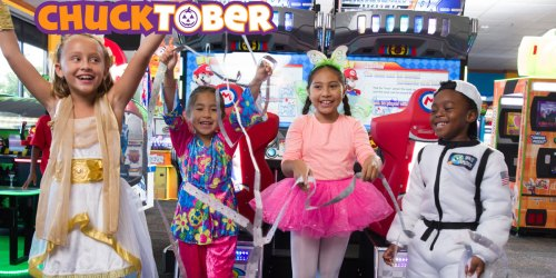 50 FREE Chuck E. Cheese Tickets w/ Halloween Costume | Through October 31st