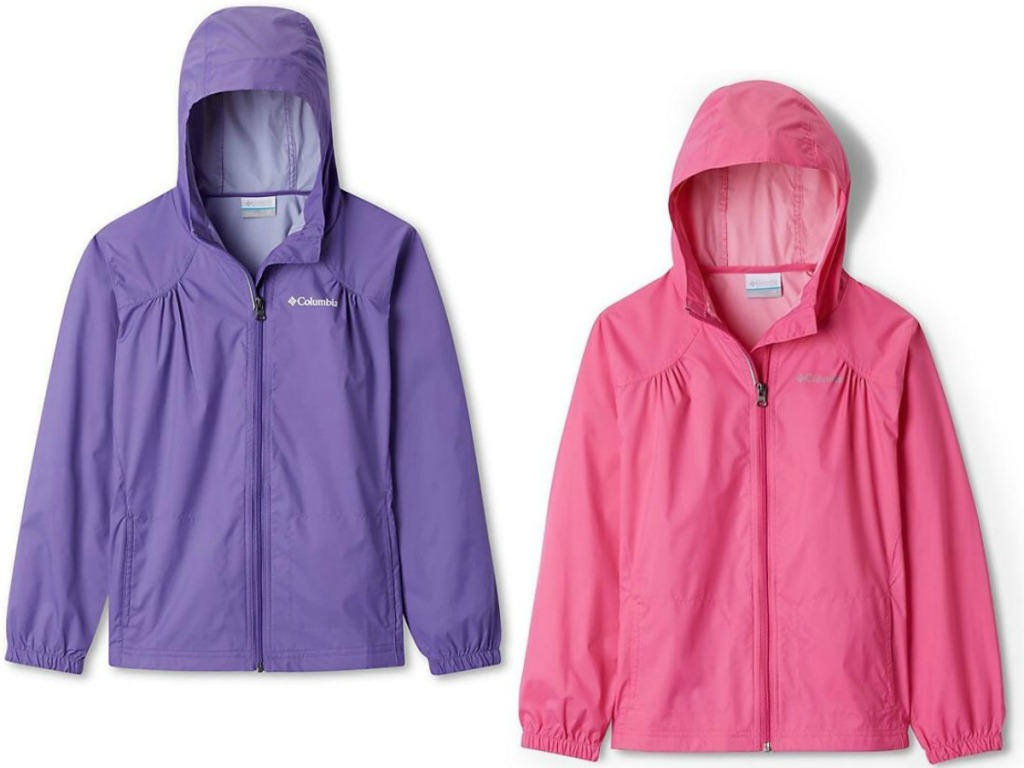 two jackets in purple and pink