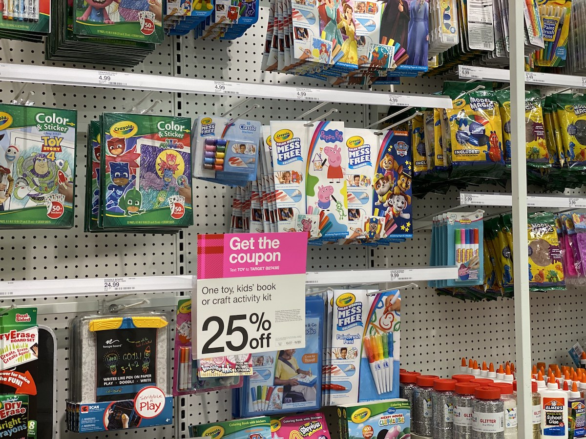 Color Wonder activity kits in-store