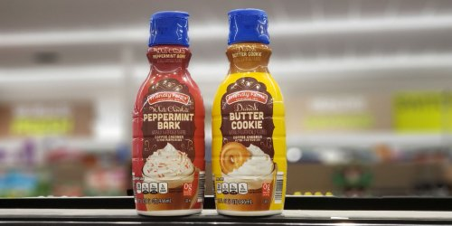 Seasonal Flavored Coffee Creamers Available at ALDI   Butter Cookie, Peppermint Bark & More