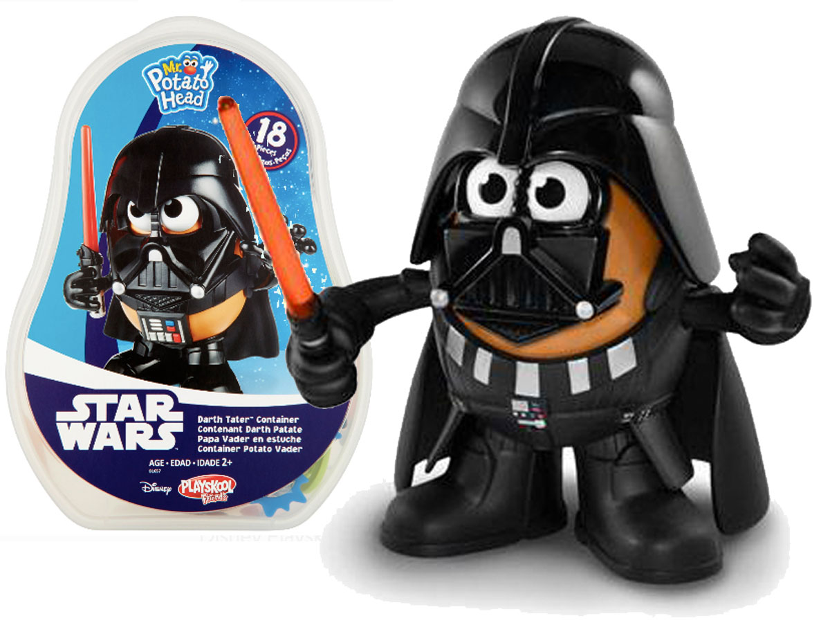 star wars mr potato head darth tater toy in and out of package