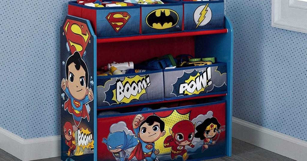 toy bin organizer in kids room