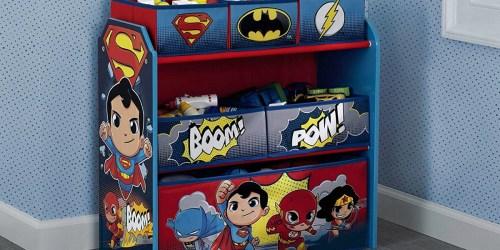 DC Super Friends 6-Bin Toy Organizer Only $24 (Regularly $40)
