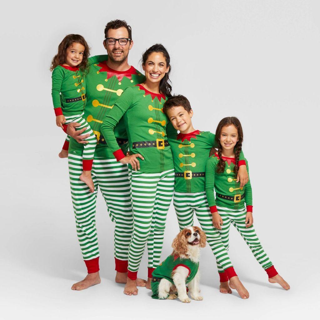 elf family pajamas