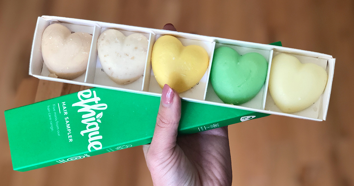 Ethique shampoo & conditioner bar sample pack