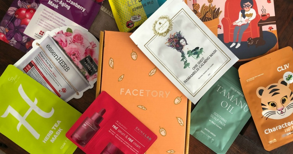 several face products in pile on table
