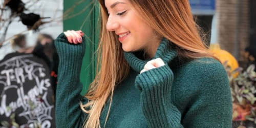 This $40 Oversized Women's Turtleneck Sweater from Amazon is so Cozy!
