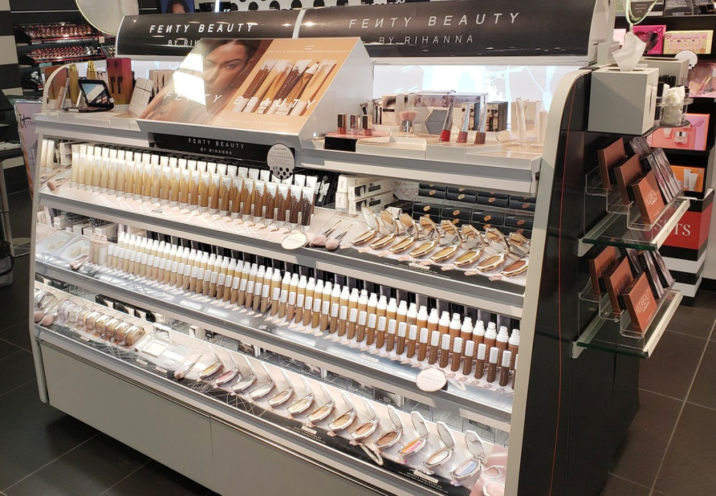 Fenty Beauty display at Sephora