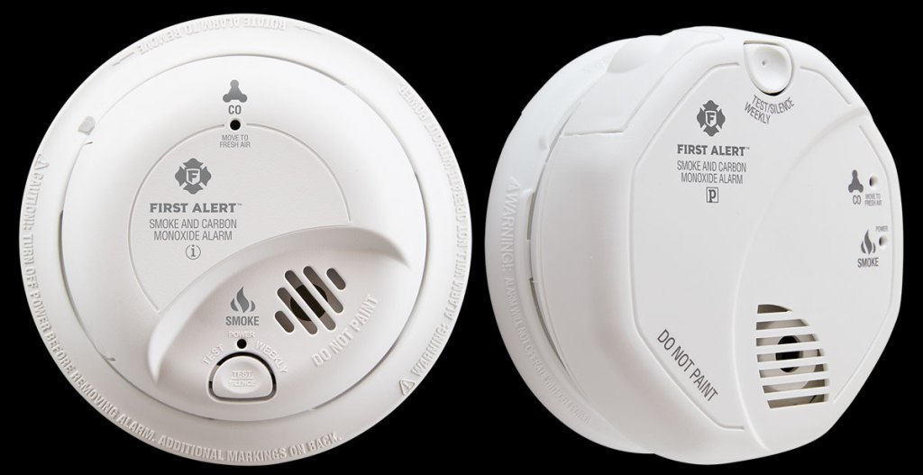 first alert stock images of smoke and carbon monoxide detectors