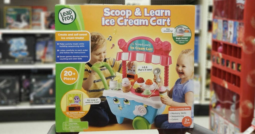 ice cream toy in box at store by display