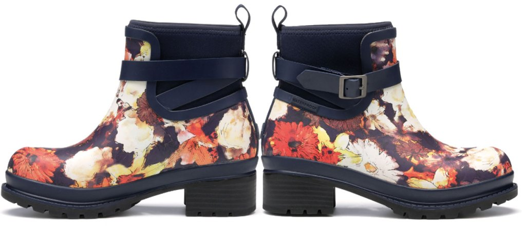 the original muck company floral ankle boots