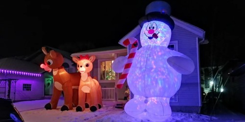 This Frosty the Snowman Inflatable Stands 18 Feet Tall!