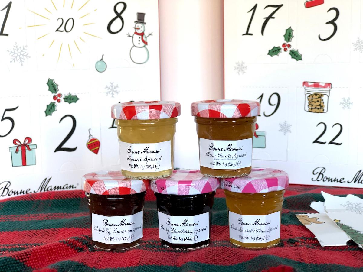 Mini jam fruit spreads advent calendar