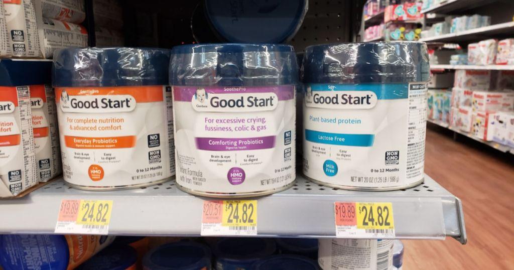 gerber good start formula on store shelf