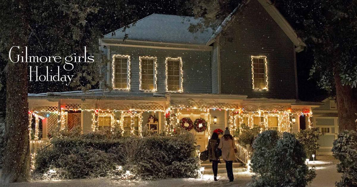 Gilmore Girls house at Christmas