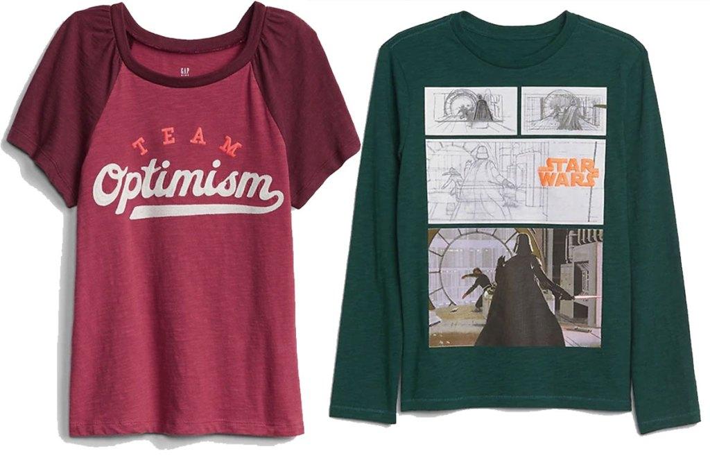 girls and boys graphic tshirts star wars