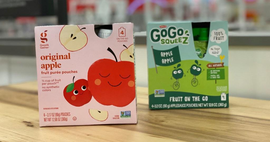 Good & Gather applesauce vs. Go Go Squeeze