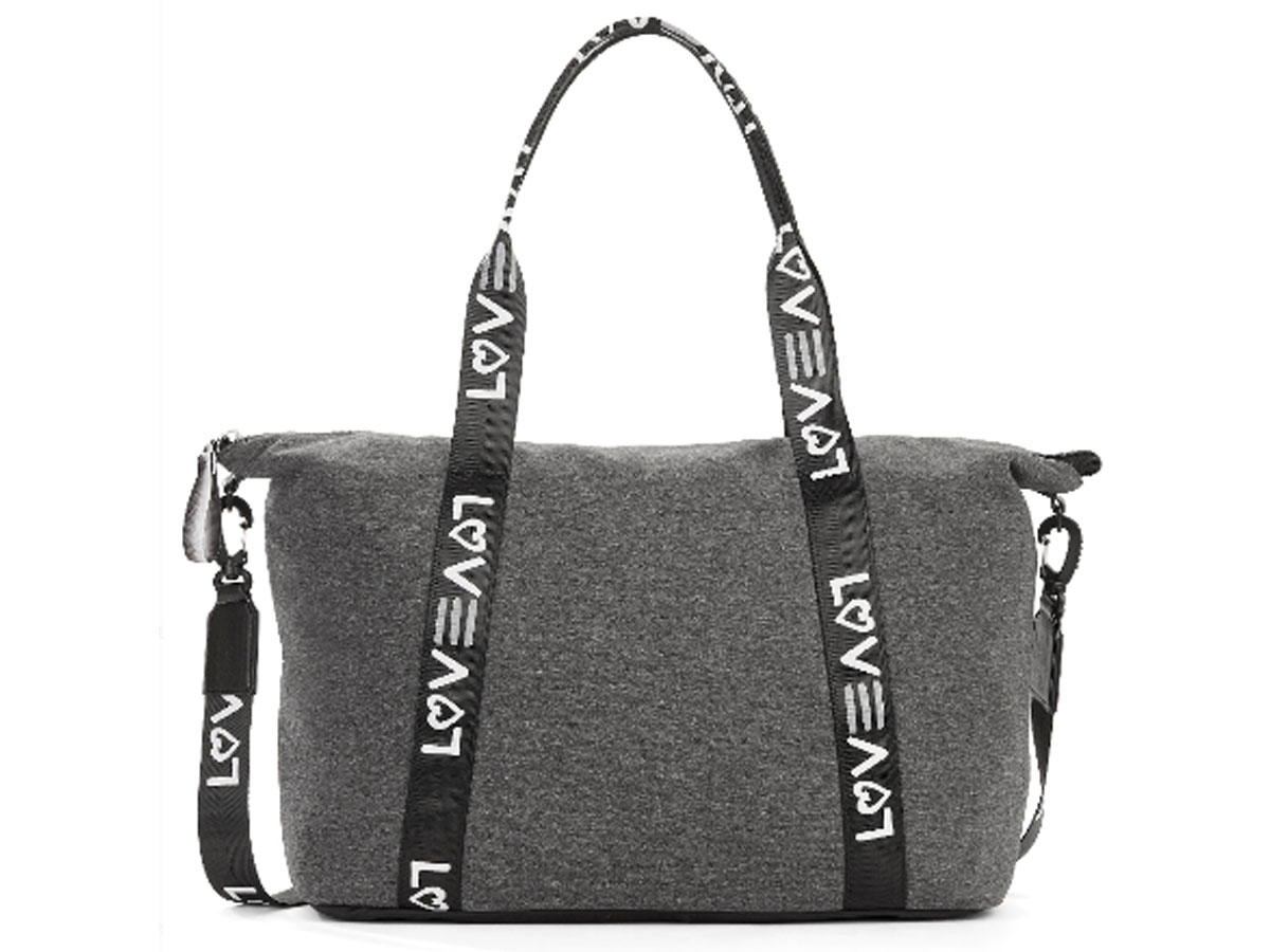 dark gray weekender tote by ellen degeneres