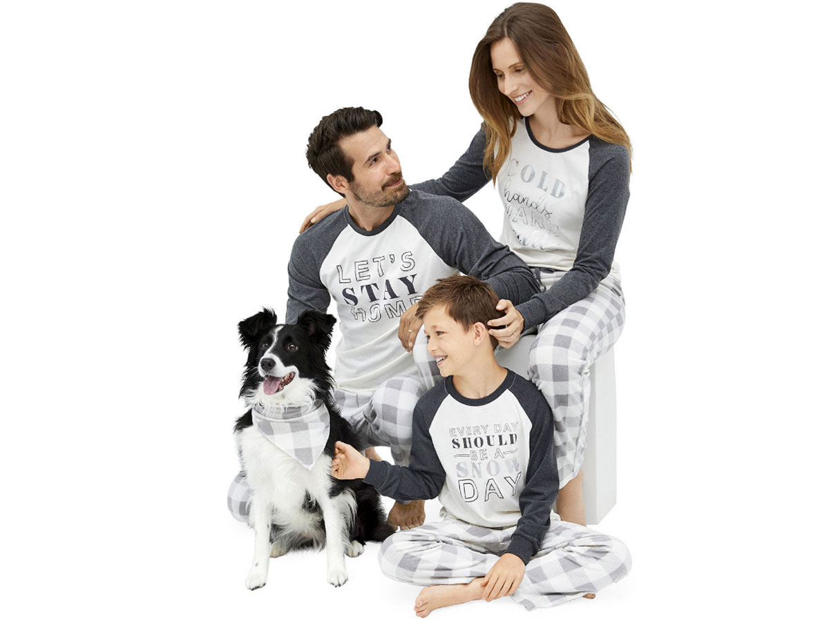 grey and black pajama