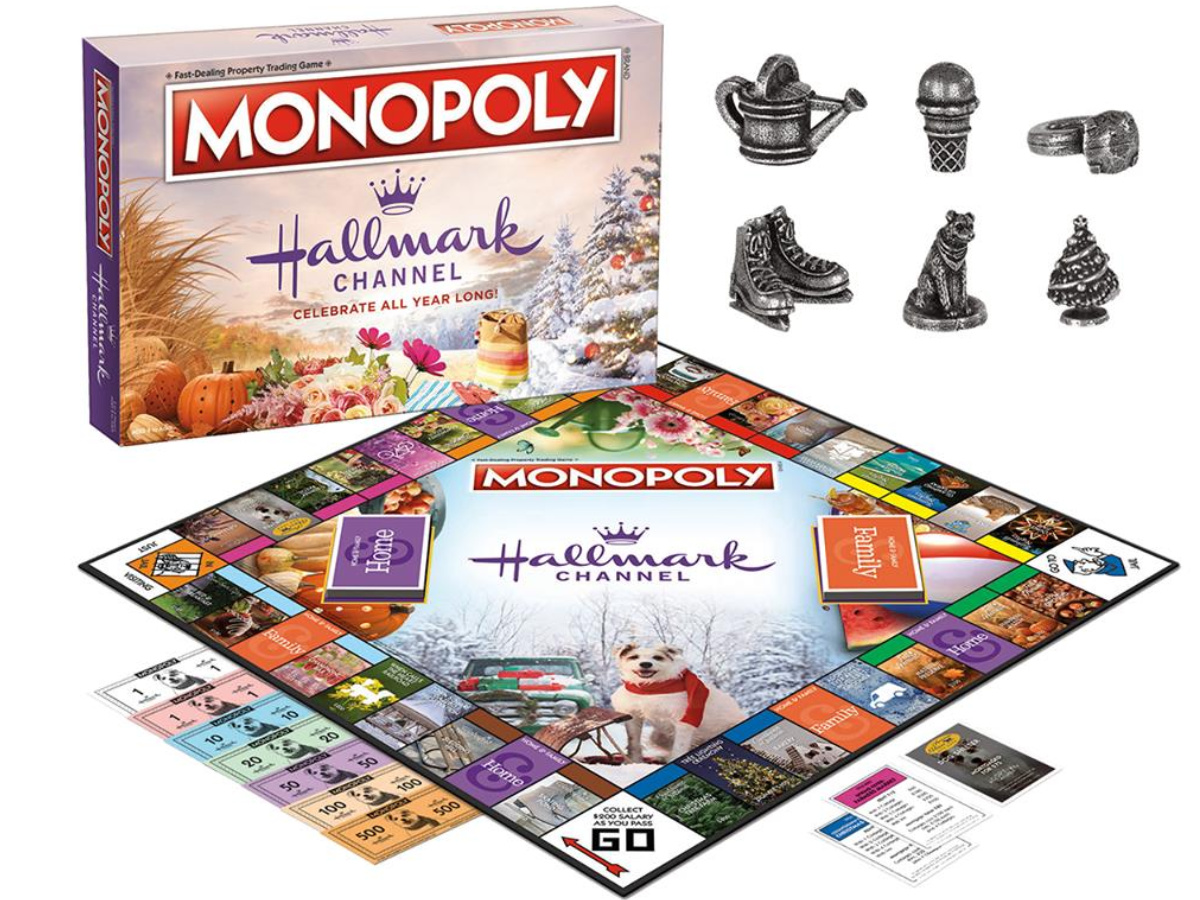 monopoly hallmark channel board game and pieces