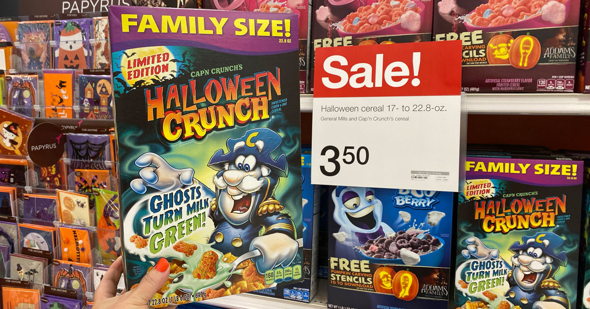 family size halloween crunch cereal