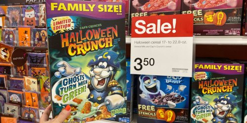 Cap'n Crunch's Halloween Family Size Cereal Just $2.30 Each at Target (Regularly $4)