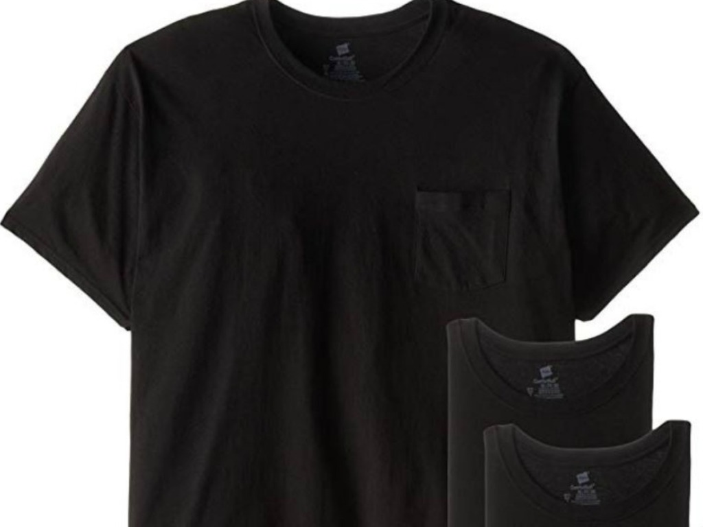 men's black t shirts