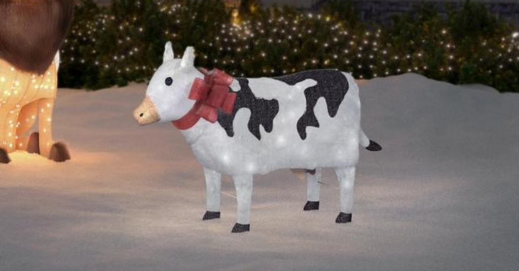 Home Depot Has Light Up Christmas Cows