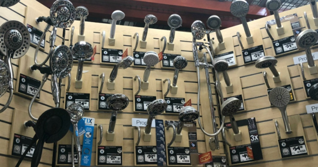 shower heads at home depot store