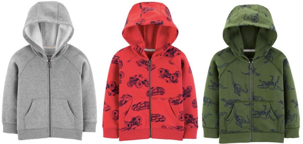 carters boys fleece lined hoodies