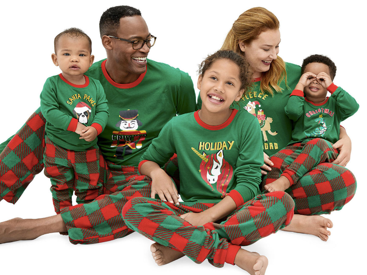 jcpenney green red pajamas
