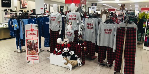 Over 45% Off Matching Family Holiday Pajamas at JCPenney