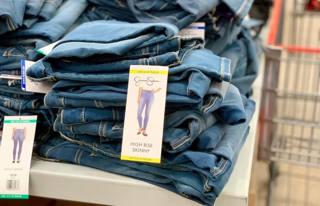 pile of jessica simpson jeans