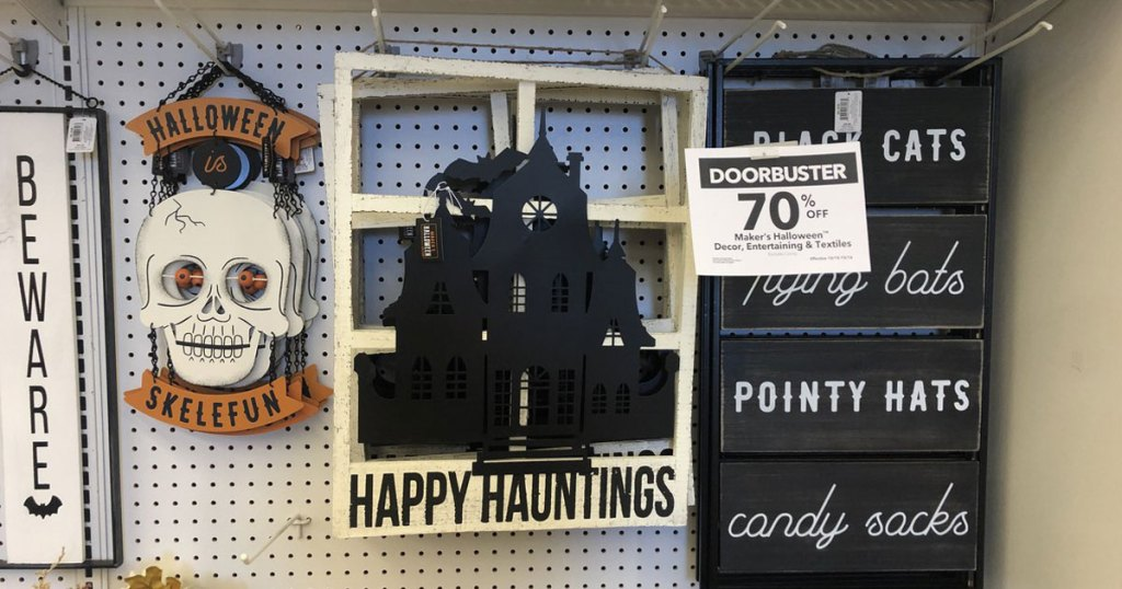 Halloween decor on sale 70% off at JoAnn