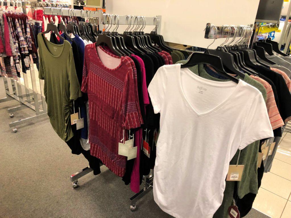 kohl's aglow maternity shirts
