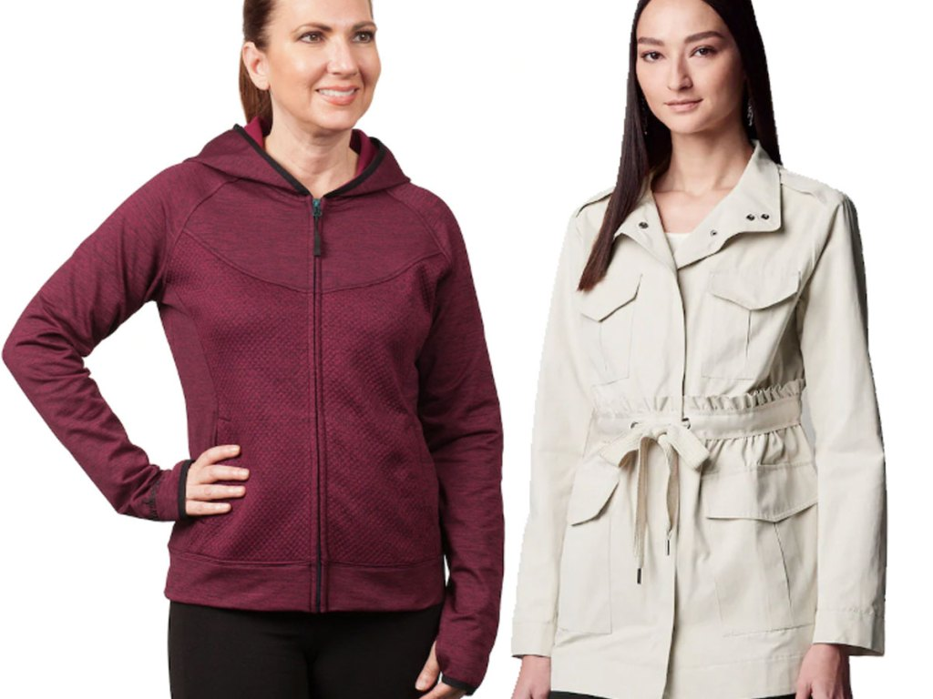 french terry jacket and utility jacket kohls