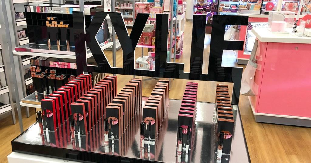 Kylie Cosmetics display at Ulta