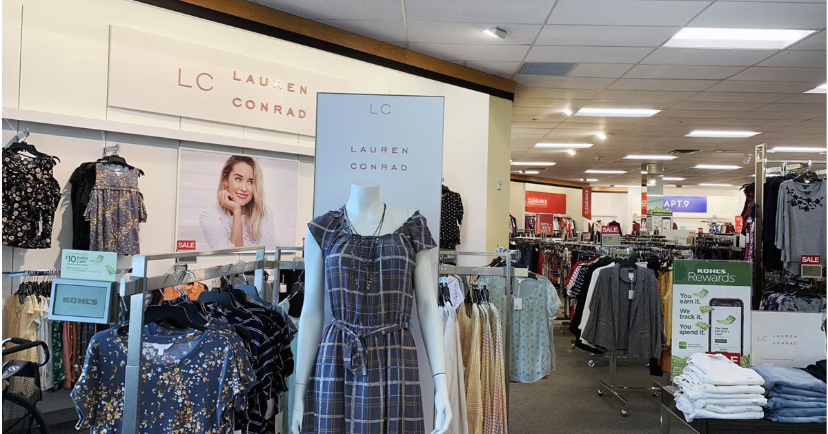 kohl's clearance section showing lauren conrad