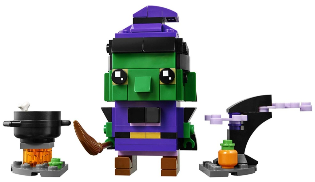 lego witch brickheadz and accessories