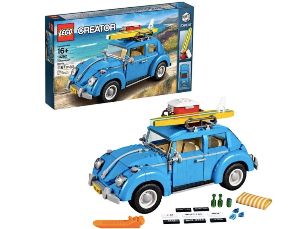 lego creator vw bug set stock image of product and box