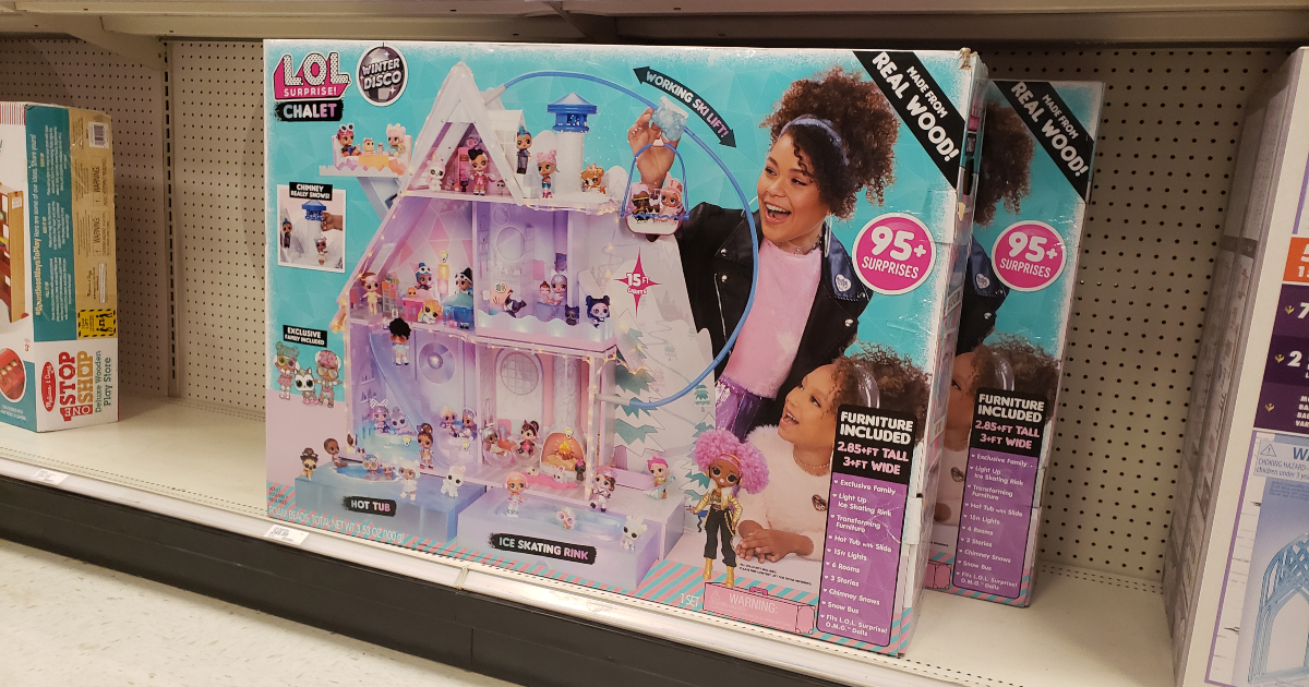 L.O.L Winter Disco Chalet Wooden Doll House *get before Christmas !! Surprise