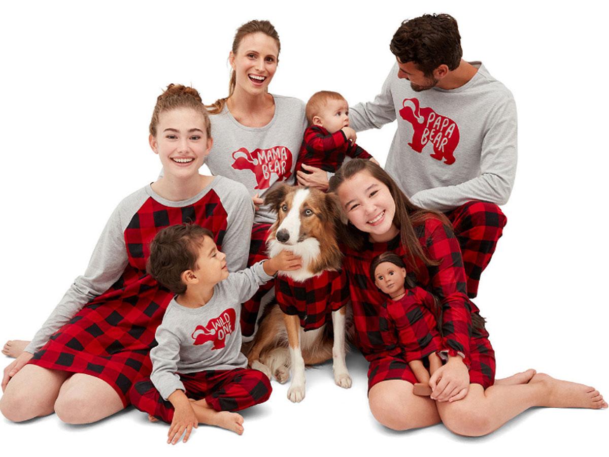 mama bear matching family pajamas