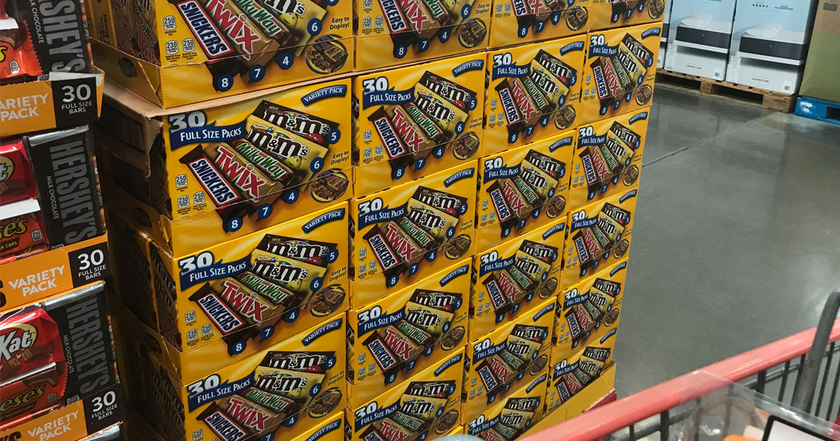 Mars & Hershey's Full Size Candy Bar 30-Count Variety