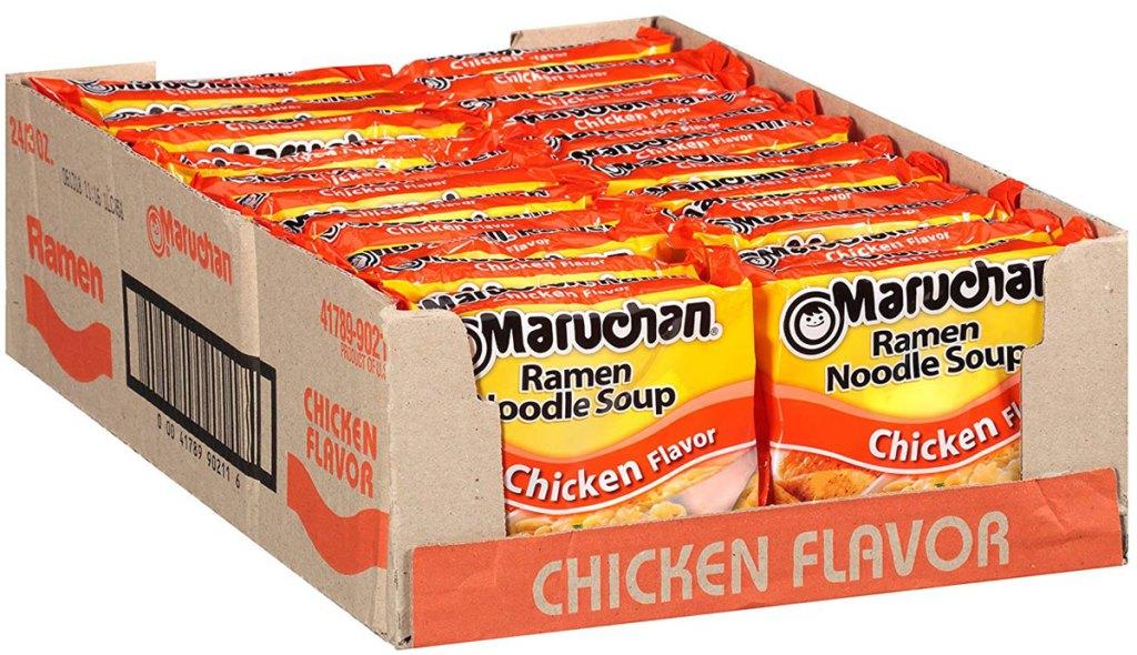 24 pack of Maruchen ramen noodle soup